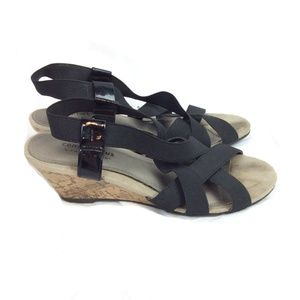 Comfort plus strappy cork sandals